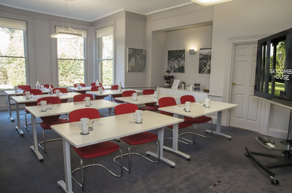 The boardroom at Gatcombe House